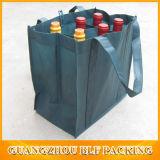 Roter kundenspezifischer Flaschen-Wein-Beutel des Druck-6 (BLF-NW134)