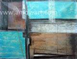 가정 장식을%s Handmade 추상적인 파란 화포 벽 예술