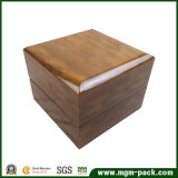 Глянцевая бумага высокого класса деревянные окна просмотра для упаковки
