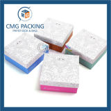 Caja colorida de la manija de papel con la ventana del PVC (CMG-PGB-034)