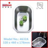 Évier de cuisine à bas étage, évier de lavabo, lavabo (4632)