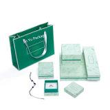 Joli cadeau de papier de luxe boîte à bijoux Warrped Livre vert