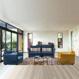Blaues und gelbes Gewebe-Sofa der Wohnzimmer-Möbel-321