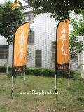 3.4m Indoor Aluminum Customized Feather Flag / Flying Flag