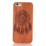 Modèle de bois personnalisée Smart couvre les cas de téléphone mobile pour iPhone, modèle de Samsung
