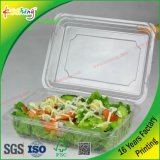 Casella di imballaggio di plastica del PVC della radura del coperchio del commercio all'ingrosso della fabbrica per la verdura della carne della frutta