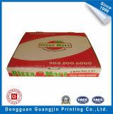 Boîte ondulée à pizza de papier d'emballage blanchi