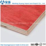Prueba de humedad de 12mm película enfrentados de madera contrachapada de color rojo