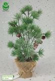 albero artificiale del regalo della decorazione della casa dell'albero di Natale del PE di 0.4m con frutta