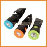 Faro di campeggio piegante flessibile della batteria di caccia della clip della lampada di clip del LED