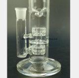 Transparentes Glasfilter-Tabak-Rohr, das Rohr aufbereitet