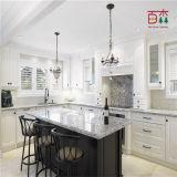 Laca pintado a preto e branco de madeira sólidos de madeira armário de cozinha