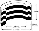 Borracha hidráulica + tela Vee selos de embalagem sem adesivos ou expansão para cilindros simples ou duplos