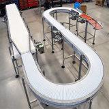 Nastri trasportatori piani di girata di plastica per alimento, bevande Tranportation