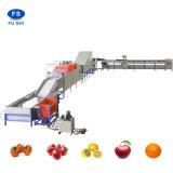precio de fábrica de procesamiento de frutas avanzada lavado, limpieza, encerado, la clasificación de la máquina