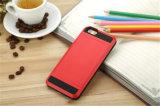 Cubierta de desplazamiento colorida del teléfono de la caja del teléfono de la armadura de la tarjeta para iPhone7