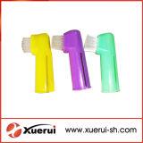 Tandenborstel van de Vinger van het huisdier de Plastic met Goede Kwaliteit