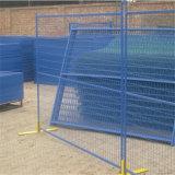금속 건축 임시 담이 캐나다 표준 싼 PVC에 의하여 입힌 임시 담에 의하여 또는 직류 전기를 통했다
