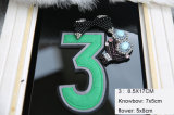 Number Rhinestone Embroidery 3D Patch Sequin Beads Garment Accessories