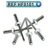 Type ouvert rivet principal rond d'abat-jour (HF0101) d'acier en aluminium