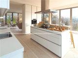 Contemporáneo Modular Lacada Blanco gabinete de cocina