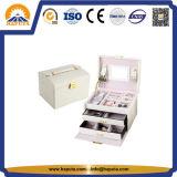 Из белой кожи косметический случае комплект для макияжа (HB-6605)