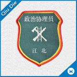 Gesponnene Abzeichen-kundenspezifische Flausch-Rückseite für Militärkleidung
