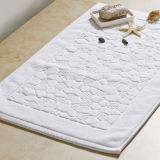 ホテルのための100%年の綿の静かにスリップ防止白い床タオル