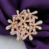 Oro Rosa de moda Accesorios de moda Jewerlry Anillo con cristal claro