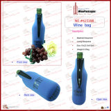 淡いブルーのNeoprene 1 Bottle Wine Bag (6151R9)