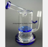 Blauer Filter, der Wasser-Schleife-Filter-Öl-Glaswasser-Rohr aufbereitet