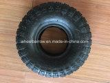 3.50-4 Pneu en caoutchouc de roue de camion de main avec le pneu en acier de brouette de RIM