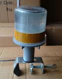 Сигнальная лампа трафика Solar-Powered желтый проблесковый маячок