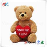 La St Valentin cadeau coeur rouge broder I Love You Brown ours en peluche