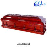 Ларец новой оптовой продажи конструкции твердый приполюсный для похоронной пользы