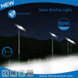 80W luz de calle al aire libre integrada del panel solar LED