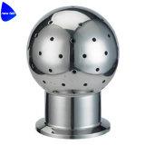Acero inoxidable sanitario Tri-Clamp CIP Nozzel giratoria 360 grados
