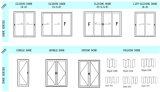 Portas deslizantes de alumínio de dupla janela com mosquiteiro