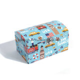 중첩한 디자인 마분지 여행 가방 장난감 저장 수송용 포장 상자를 주문을 받아서 만드십시오