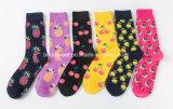 Custom ткань из микроволокна нейлоновые спортивные хлопка из жаккардовой ткани носки для женщин и