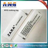 衣服の記憶装置または記憶または衣服の小売店のための洗濯できる編まれたUHF RFIDの衣類の札