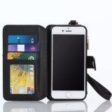 셀룰라 전화 iPhone 7을%s Foldable 덮개 지갑 가죽 상자