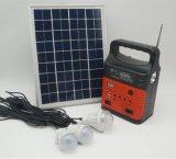 Sistema de energía solar caliente de la venta 10W 9V con los bulbos 3LED