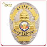 Polícia de metais folheados a ouro personalizado crachá para Agente de Segurança Privada