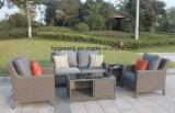 Jardim Furniturte grande sofá com 10mm Half Moon Curve Televisão Wicker