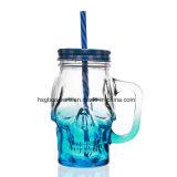 De koele Creatieve Mok van het Glas van de Kruik van de Metselaar van de Schedel van de Kop 450ml van de Metselaar