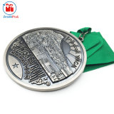 Medaglia Premium annuale di sport d'argento antico del metallo di qualità superiore
