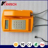 Telefoni resistenti Knsp-18LCD Kntech del tempo & esterni