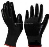 Высокое качество черный нитриловые покрытием 13G нейлон трикотажные Woring перчатки