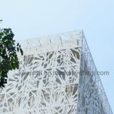 Parete divisoria di alluminio decorativa del comitato della facciata del taglio del laser